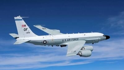 Aircraft RC-135 reconnaissance week the US. wikimedia